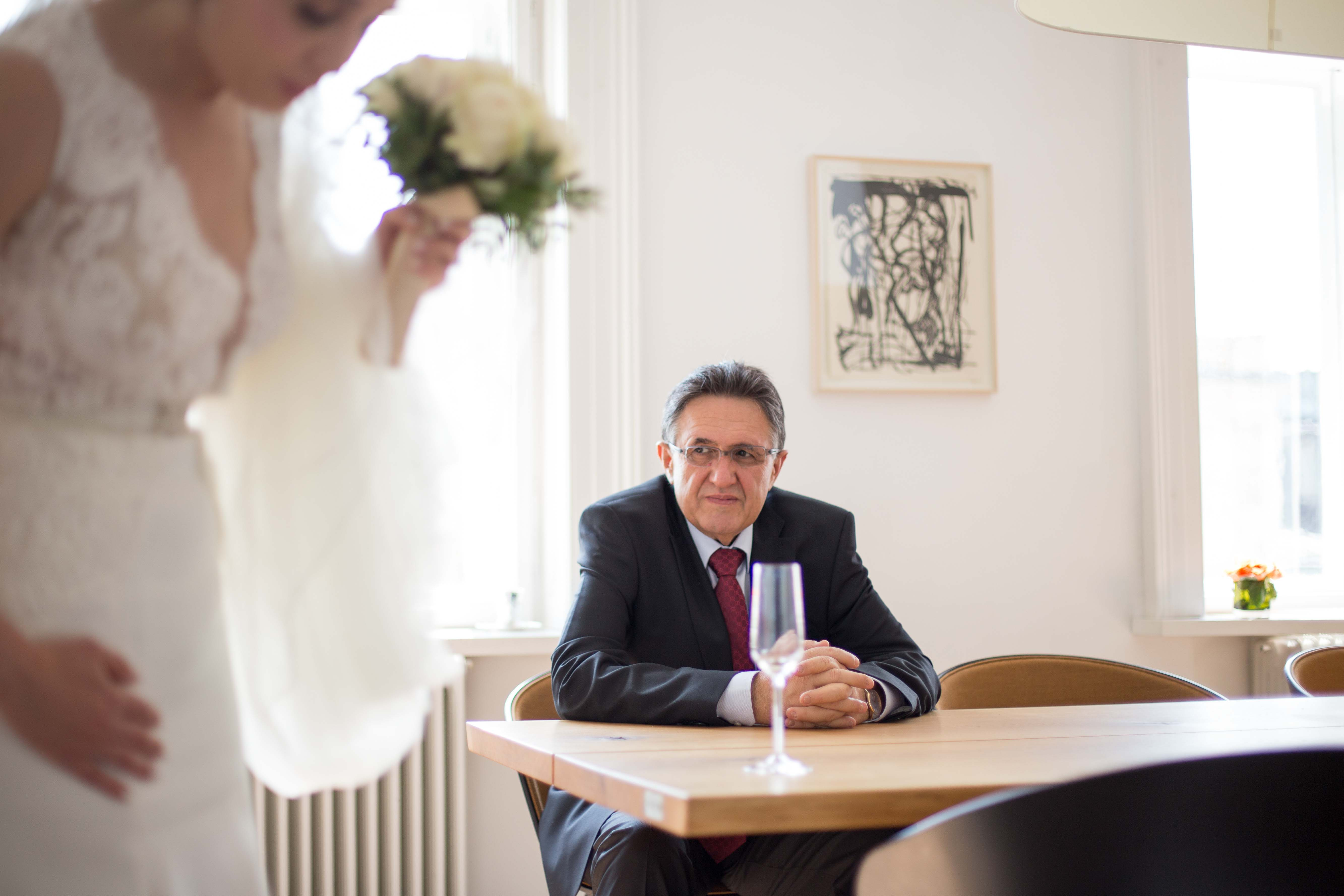Braut mit ihrem Vater in Wien