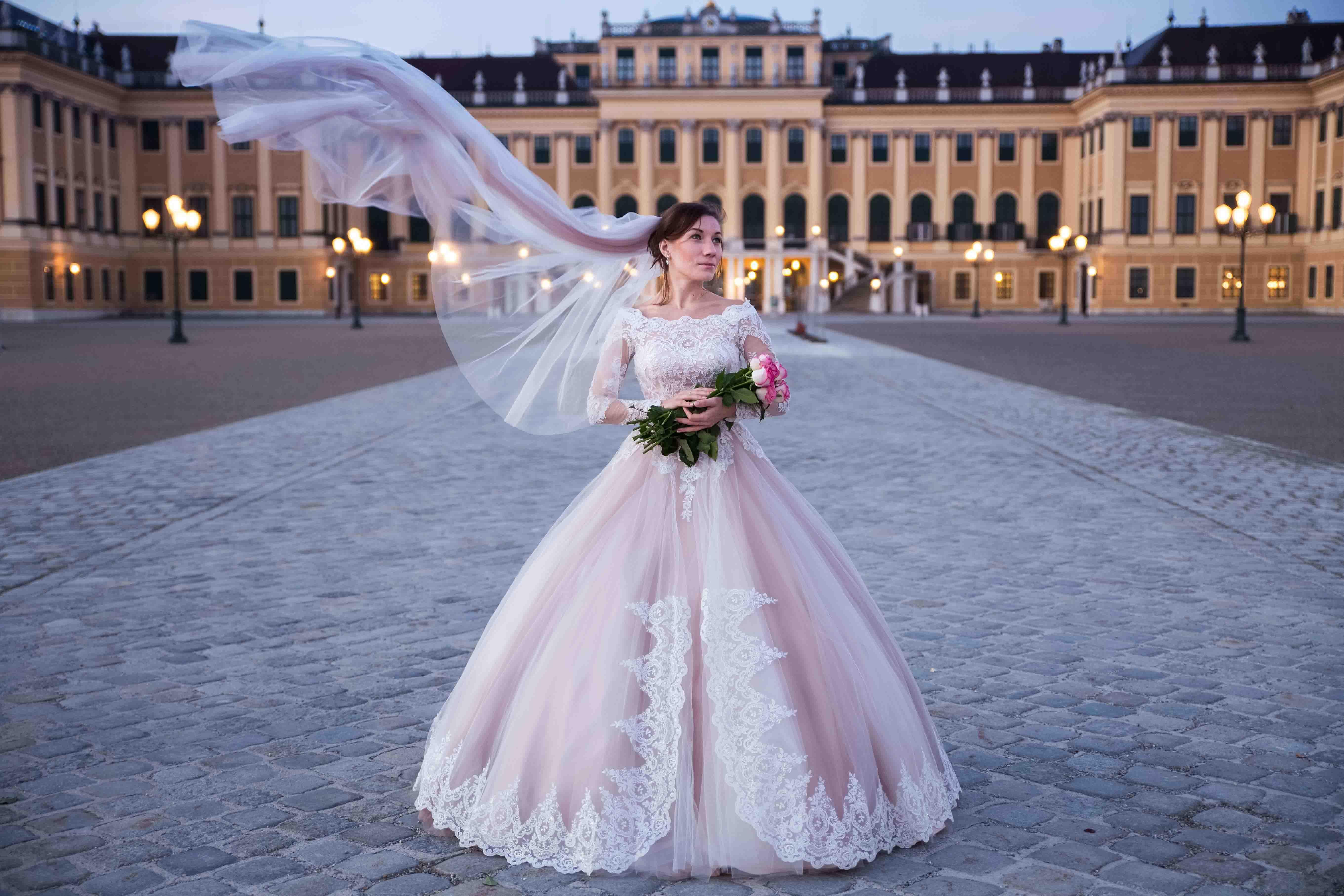 Bride in Schönbrunn, Vienna