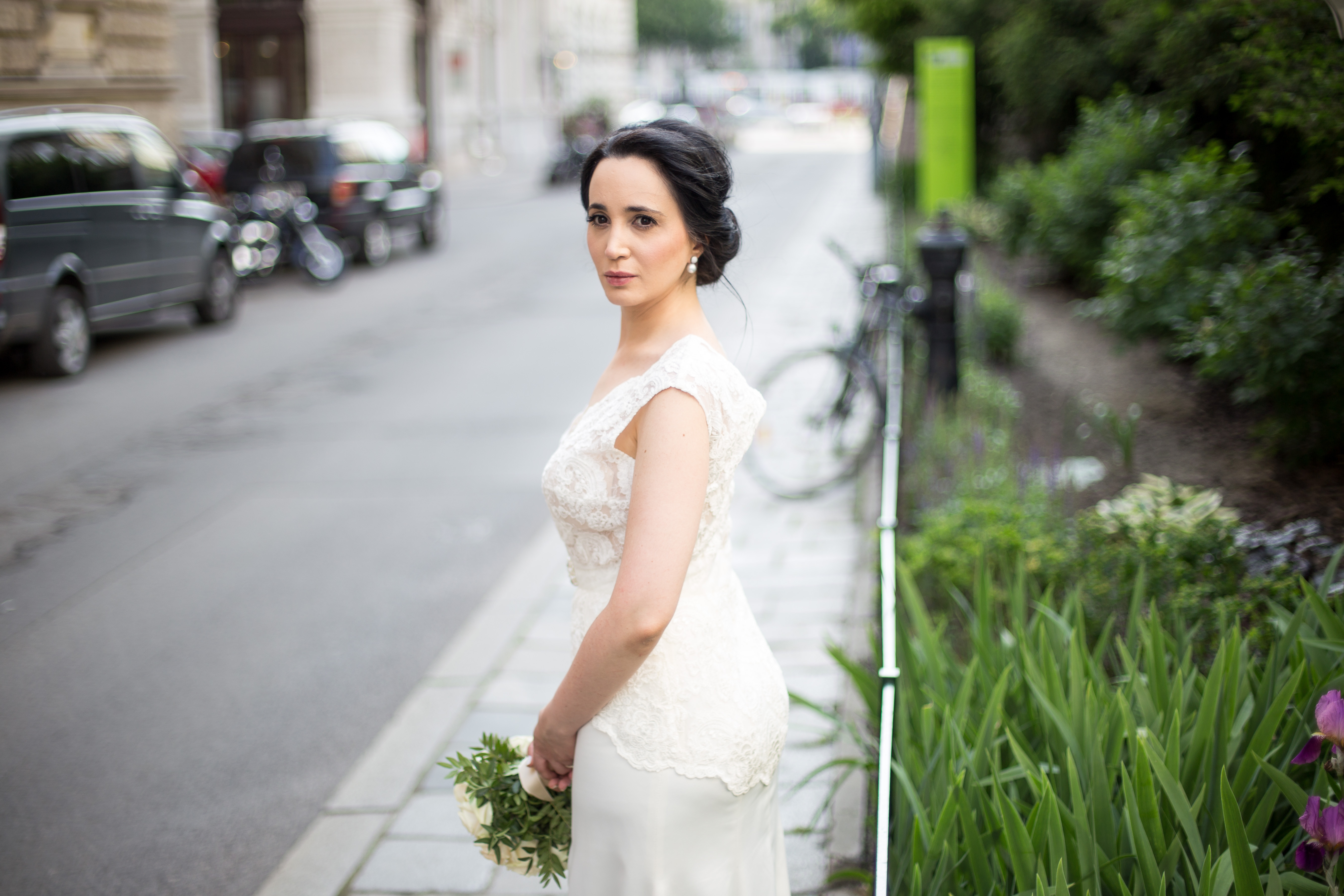 Beautiful bride in Vienna