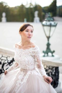 Schöne Braut in Schloss Schönbrunn
