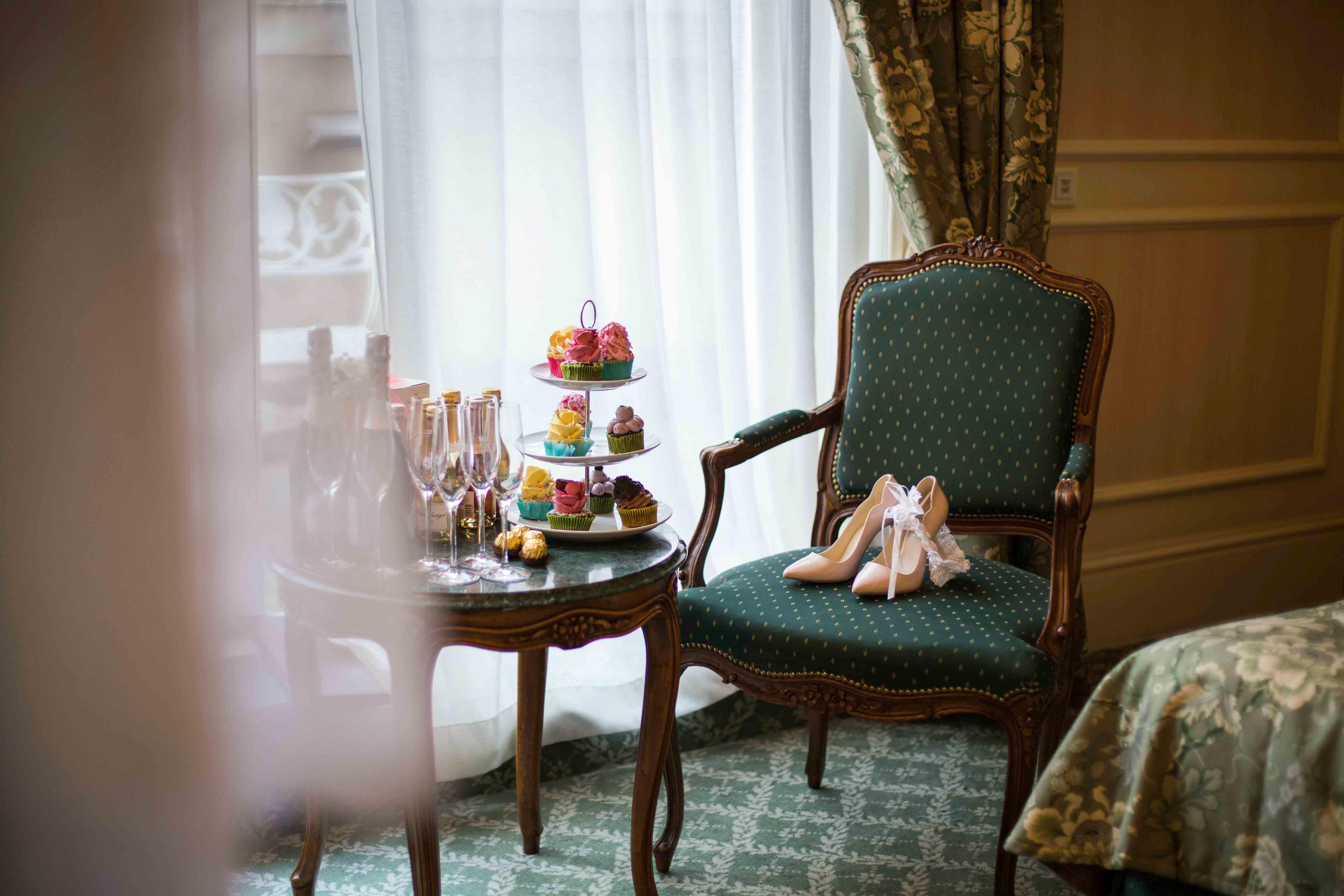 Brautschuhe, Grand Hotel Wien