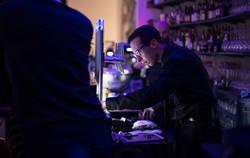 Barman at a bar opening in Vienna