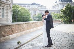 Beautiful couple dancing in Vienna