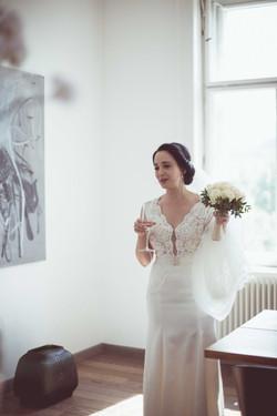 Eine stilvolle Braut in Wien