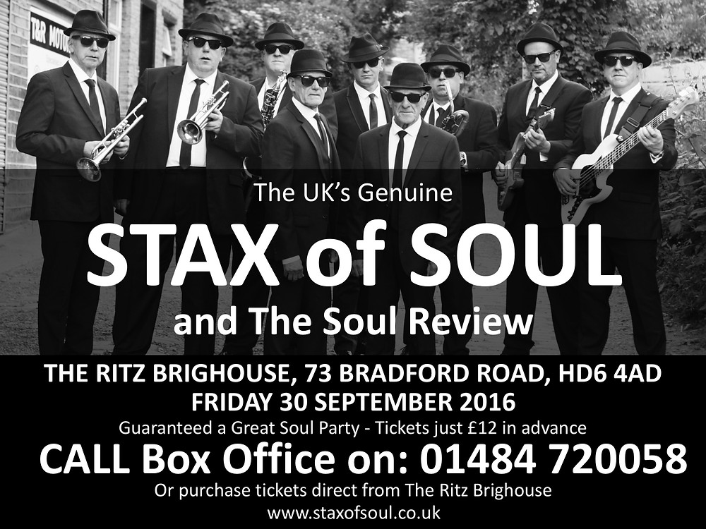STAX of SOUL - The Ritz Brighouse