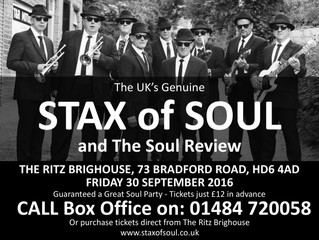 Last Minute SHOUT!  LIVE at The Ritz, Brighouse, Fri 30 Sept 2016