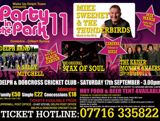Great Gig Ahead! - Party in the Park (Delph), Sat 17 Sept 2016
