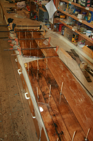 Epoxy coating inside of centerboard trunk after repair