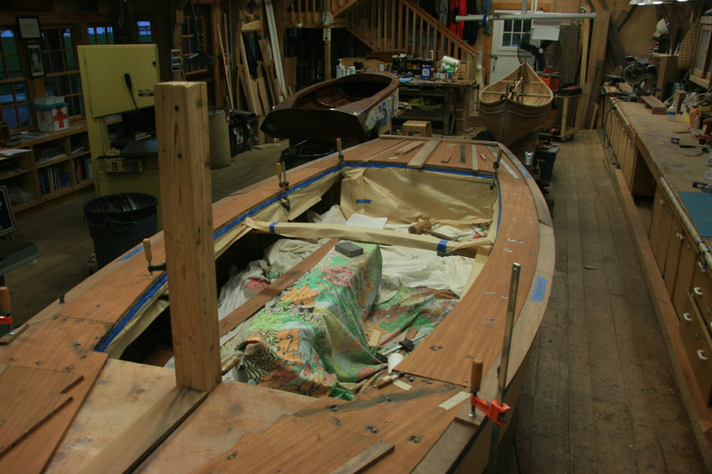 Installing new cover boards and king plank