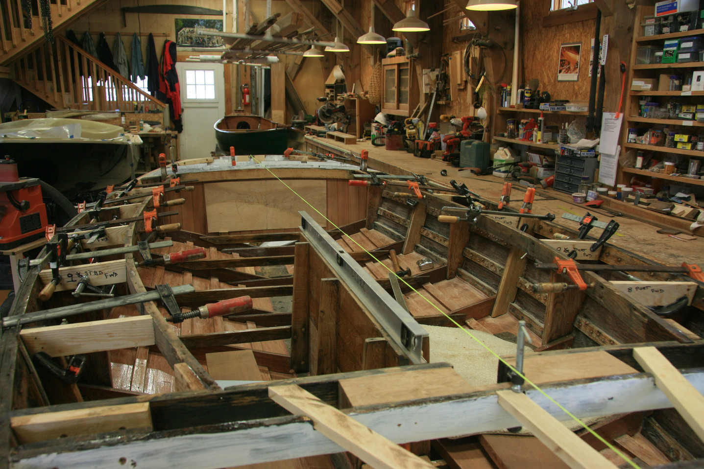 Deck framing and lazerette fabrication