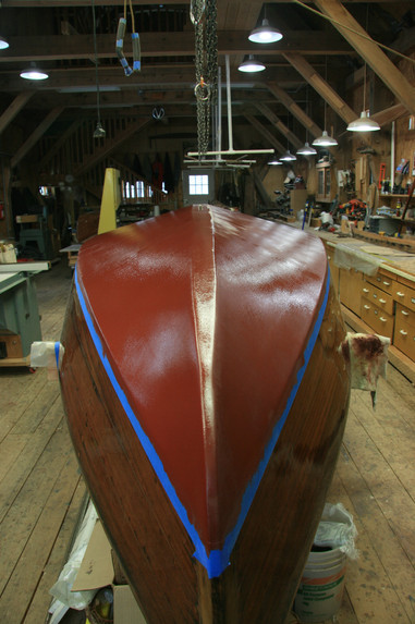 Second and final bottom coat complete