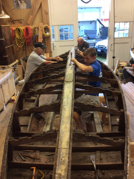 Removing the hull planking