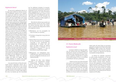 Rutas de la trata de personas en la Amazonía peruana