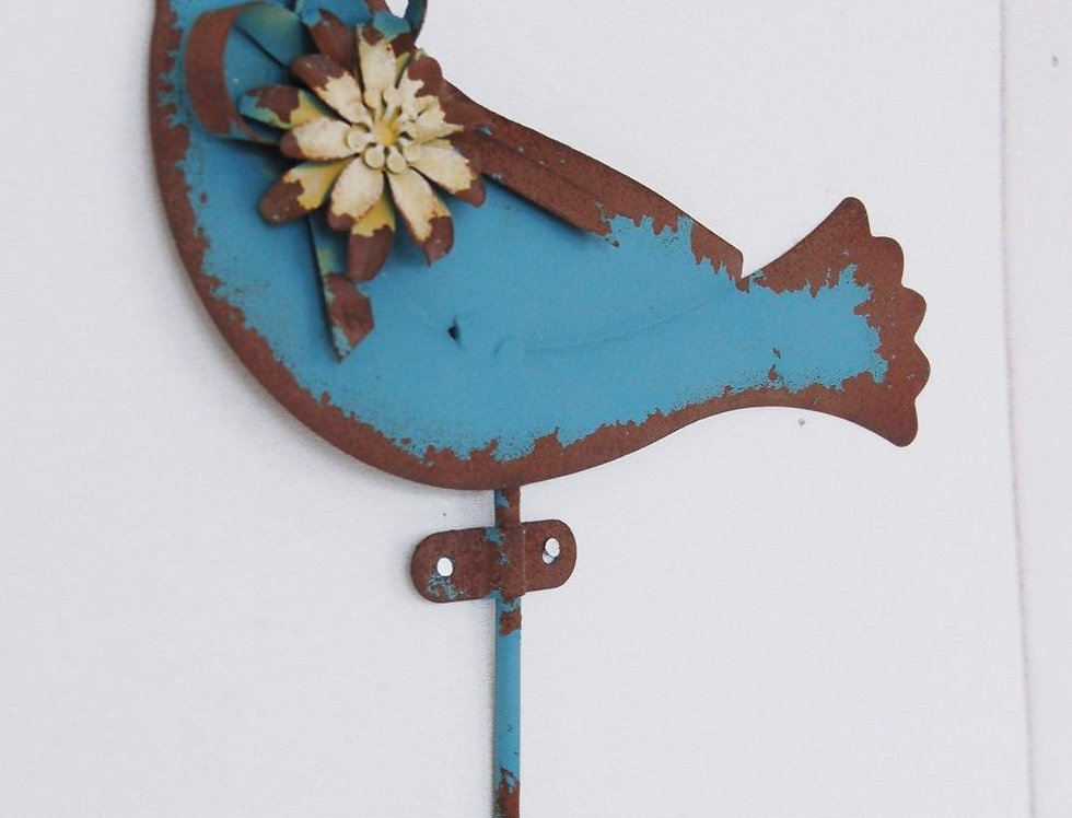 Haken Vogel blau