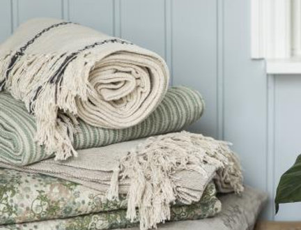 Quilt, Steppdecke im Landhausstil ETHEL grünes Muster