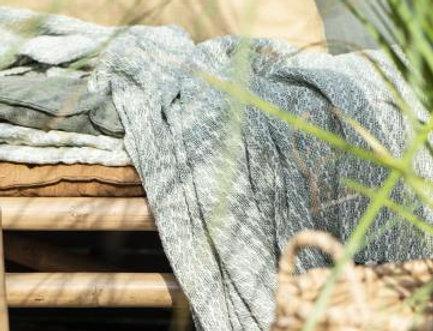 Plaid creme grün ELVIRA