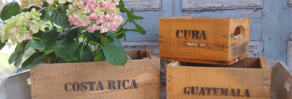 Holzkisten-Set CUBA