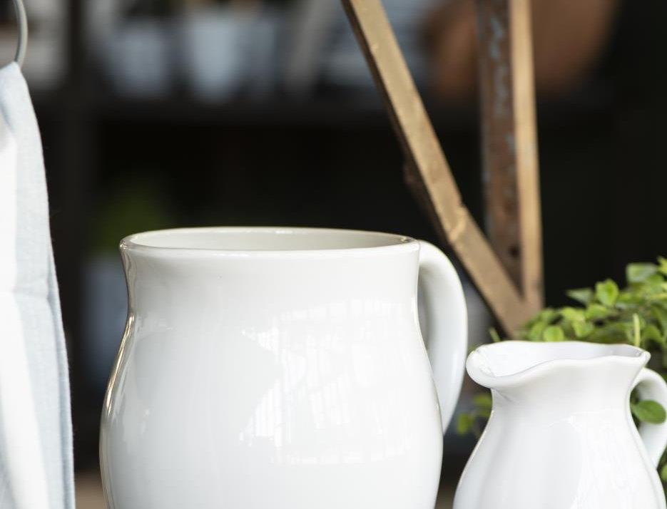 Steingut Krug Pure White 2,5 lt