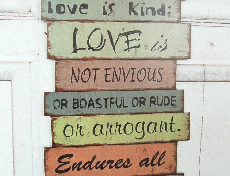 Wandschild Love