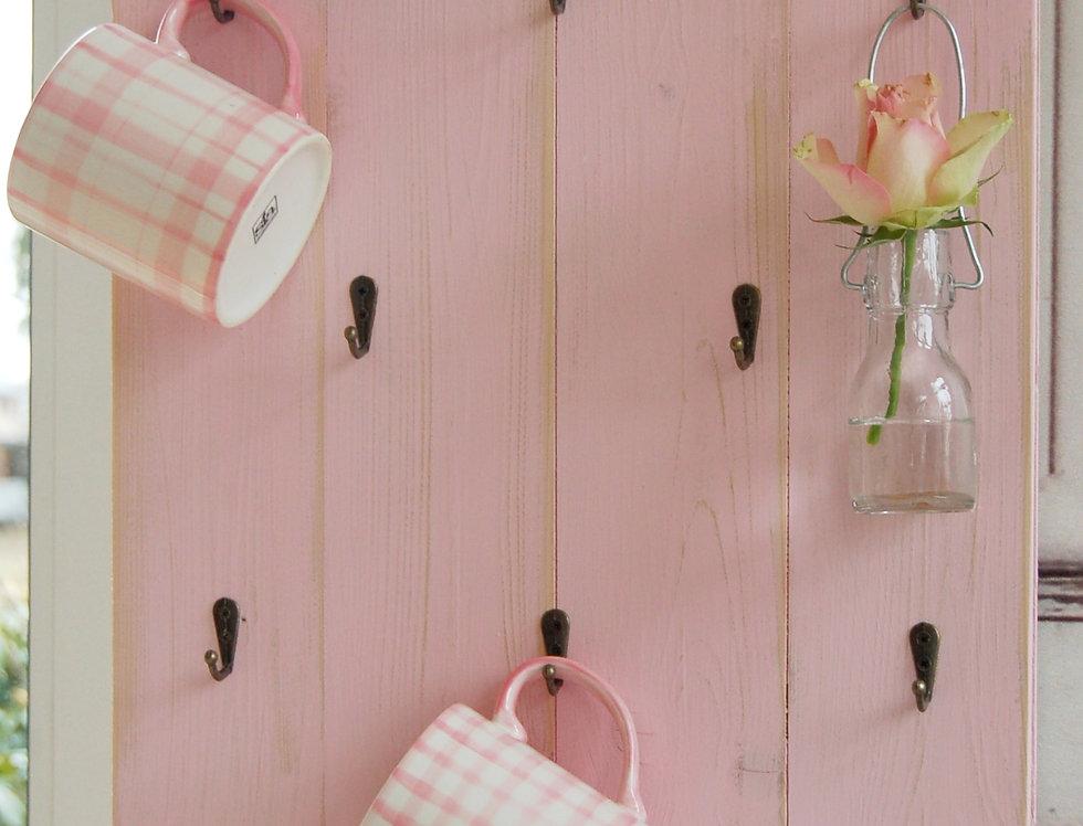 Landhaus Tassenregal Cups Carla in rosa