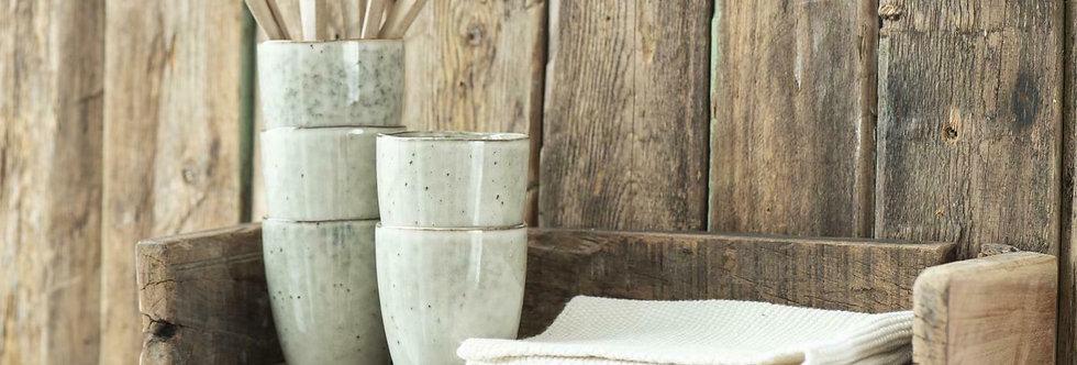 Landhaus Wandregal Regal ISBERT aus altem Holz, im Shabby Chic Stil 45 cm