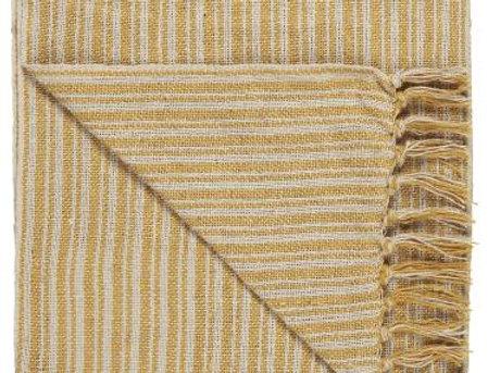 Plaid creme gelb mit Streifenmuster im Landhausstil EMELPHINE