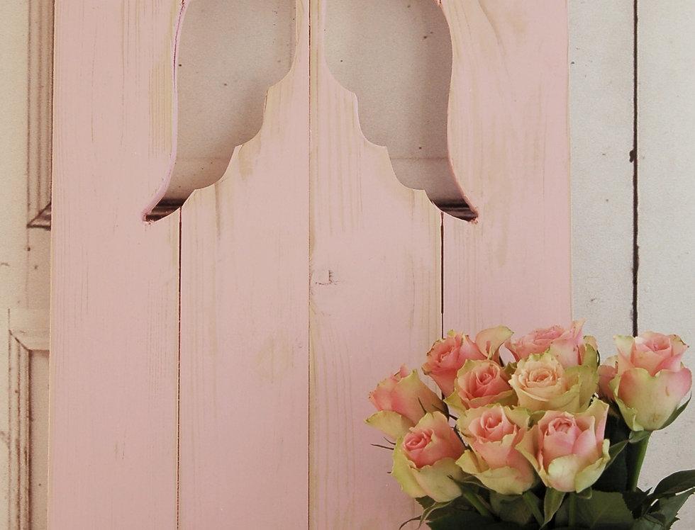 Landhaus Fensterladen ENGEL mit Engelsflügeln ,Shabby chic Handgefertigt in rosa