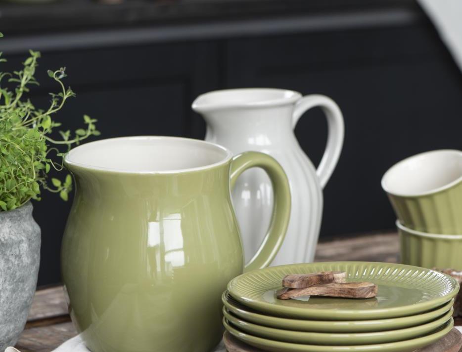 Steingut Krug Herbal Green 2,5 lt