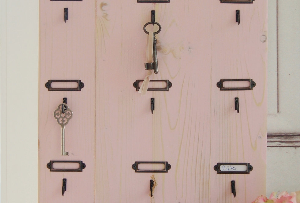 Landhaus Schlüsselbrett SVEND in rosa