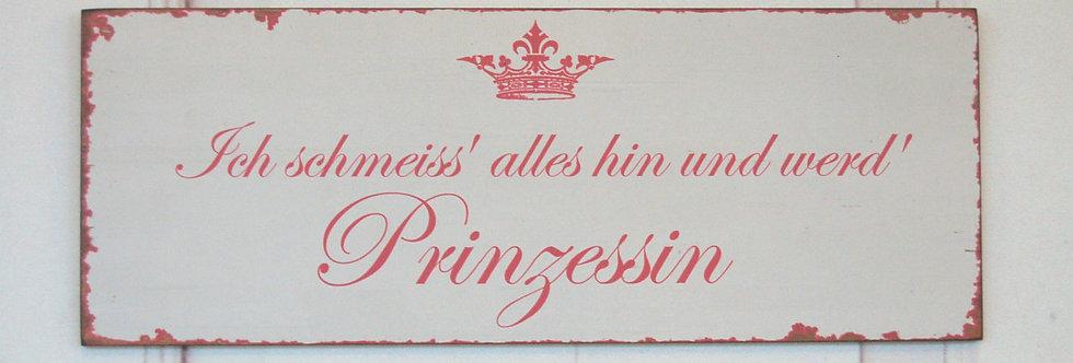 Wandschild Prinzessin