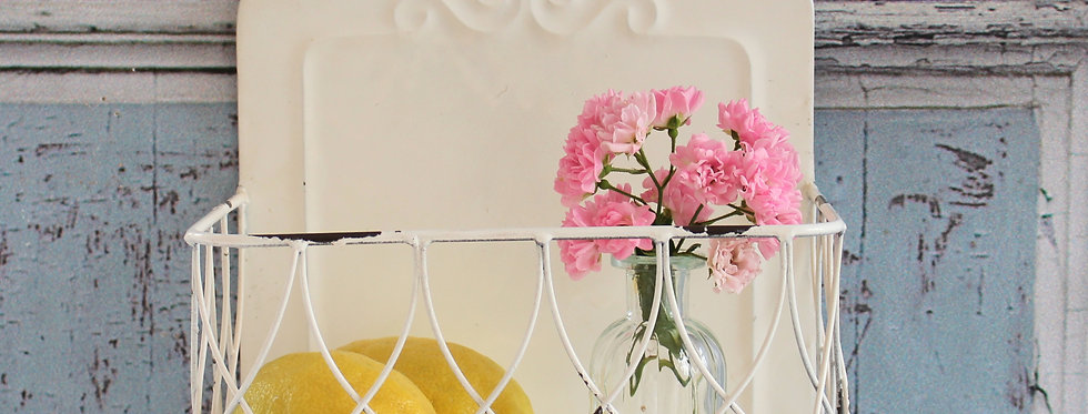 Traumhafter Landhaus Wandkorb Annabelle in weiß