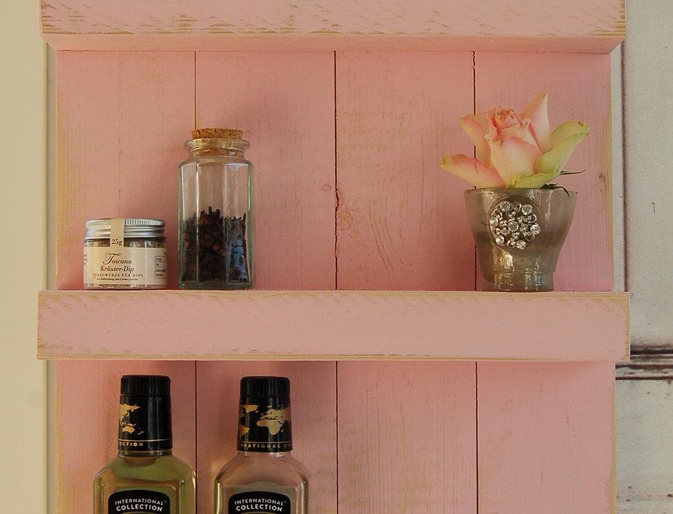 Landhaus Gewürzregal Regal WIOLETTA in rosa