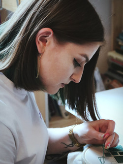 be alice doing hand embroidery