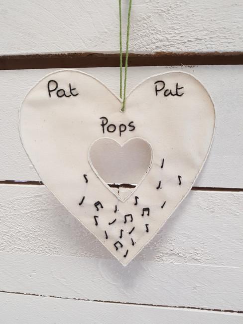 Pat Pat Pops memorial gift