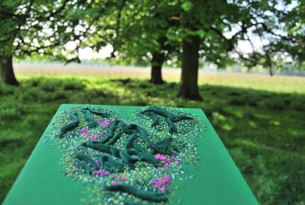 Irish landscape embroidery
