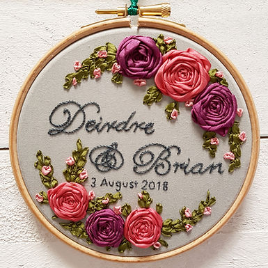 handmade wedding gift embroidery