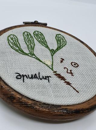 Mistletoe embroidery