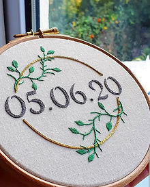 wedding Date_Embroidery gift