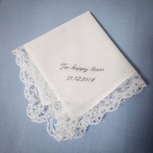 Happy Tears wedding handkerchief