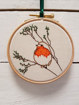 Red Robin christmas ebroidery gift