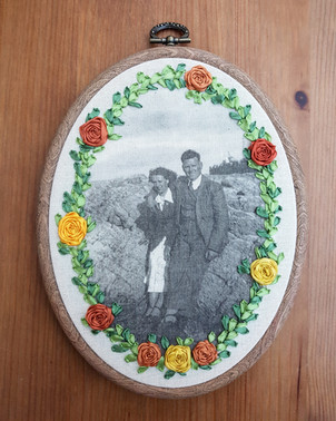 Photo Embroidery anniversary gift