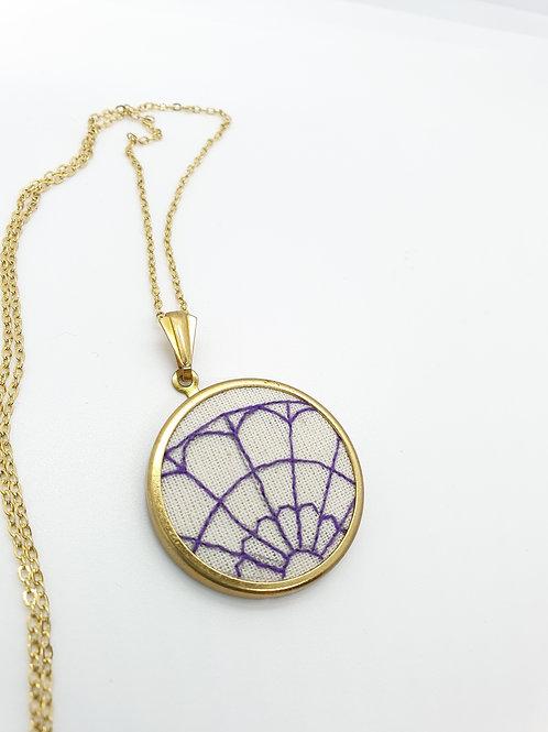 Fanlight Necklace Purple