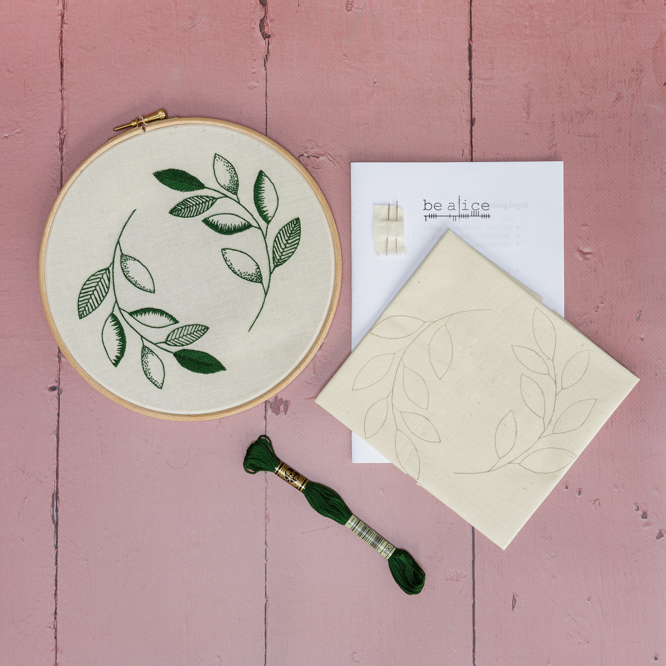 Crewelwork Inspired Leaves