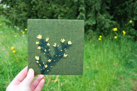 Gorse Irish landscape embroidery