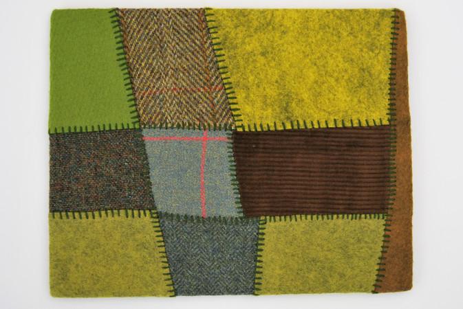 Irish patchwork fields embroidery