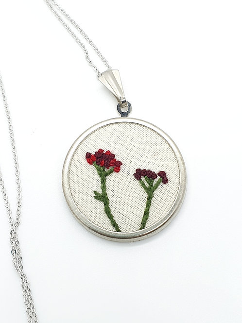 Floral Necklace Red