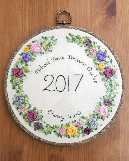 Family Gift embroidery names