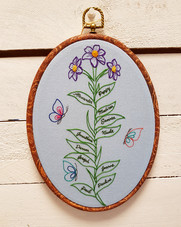 Family Flowers name embroidery gift