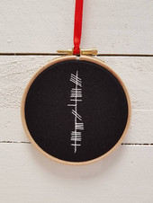 ogham lettering embroidery