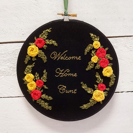 Welcome Home subversive stitch